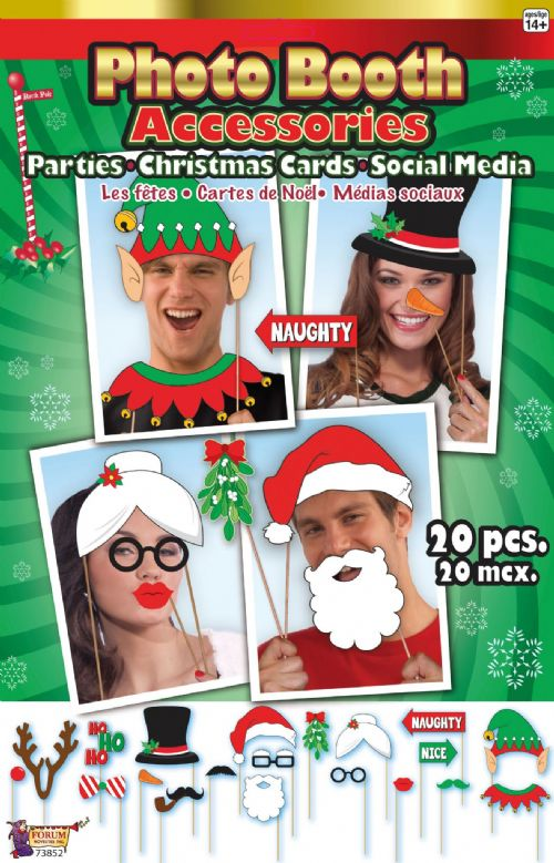 Christmas Photobooth Kit 20pcs set Festive Xmas Nativity Party Favour